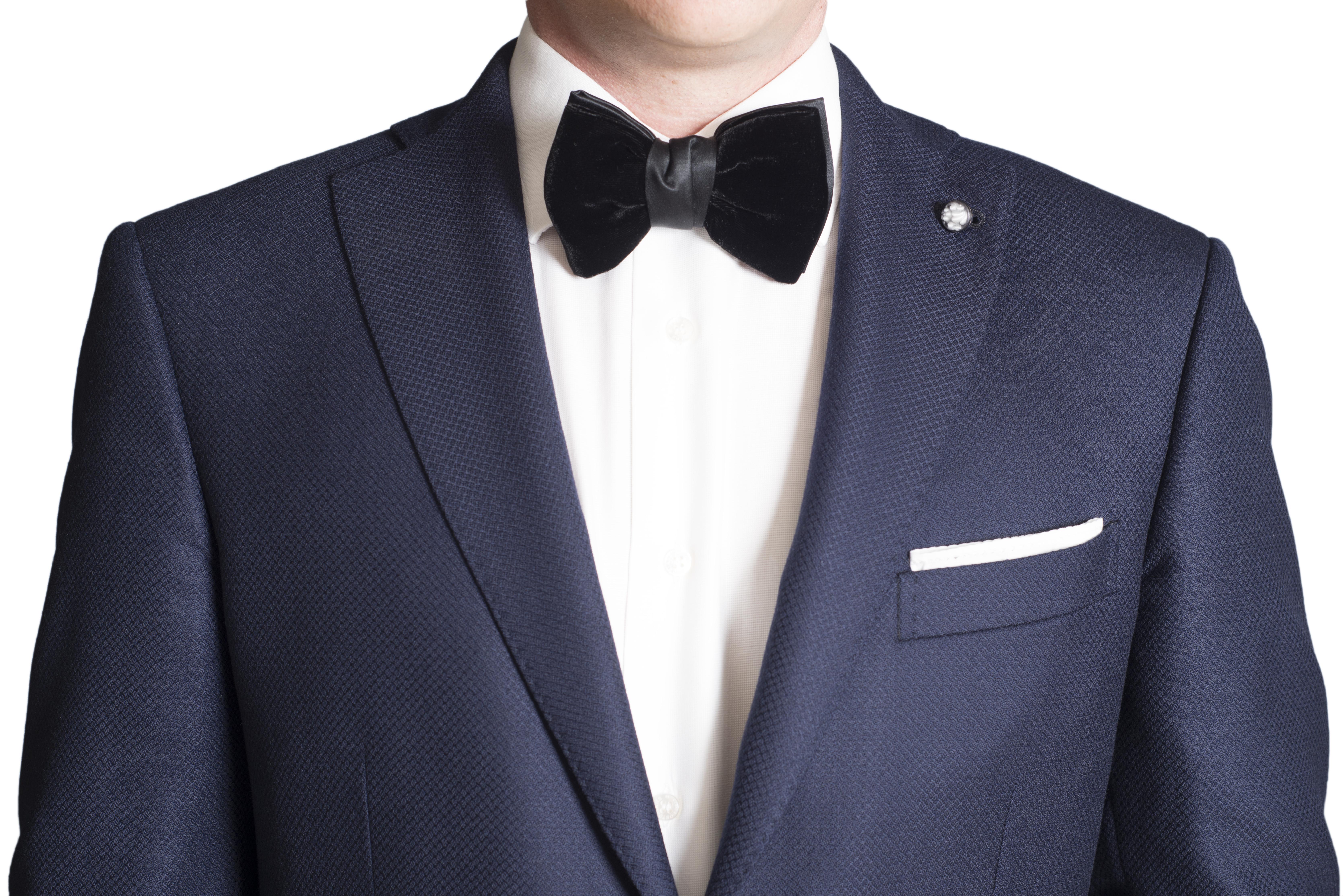 kydos styleforum holiday office party black velvet bow tie