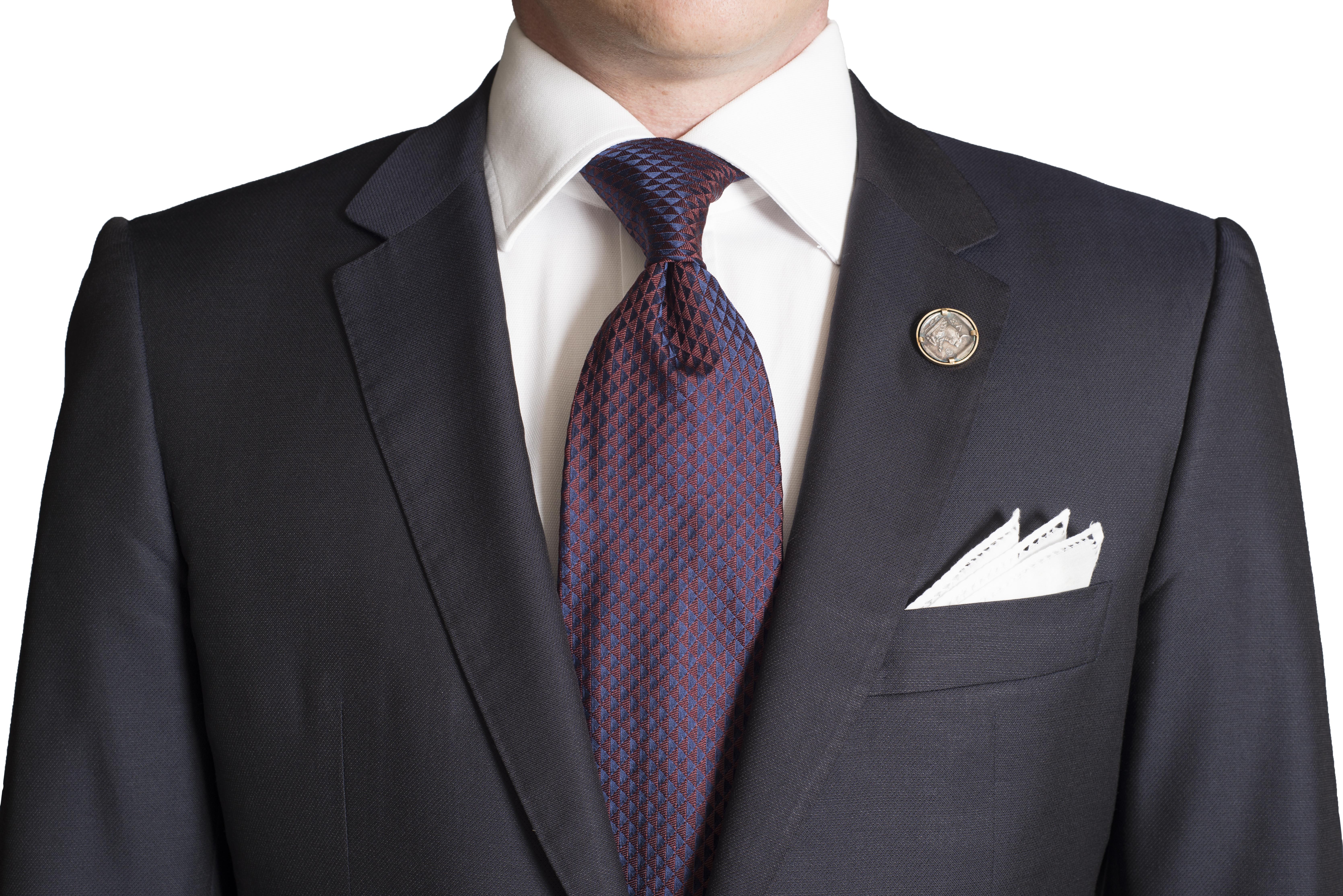kydos styleforum holiday office party burgundy silk tie