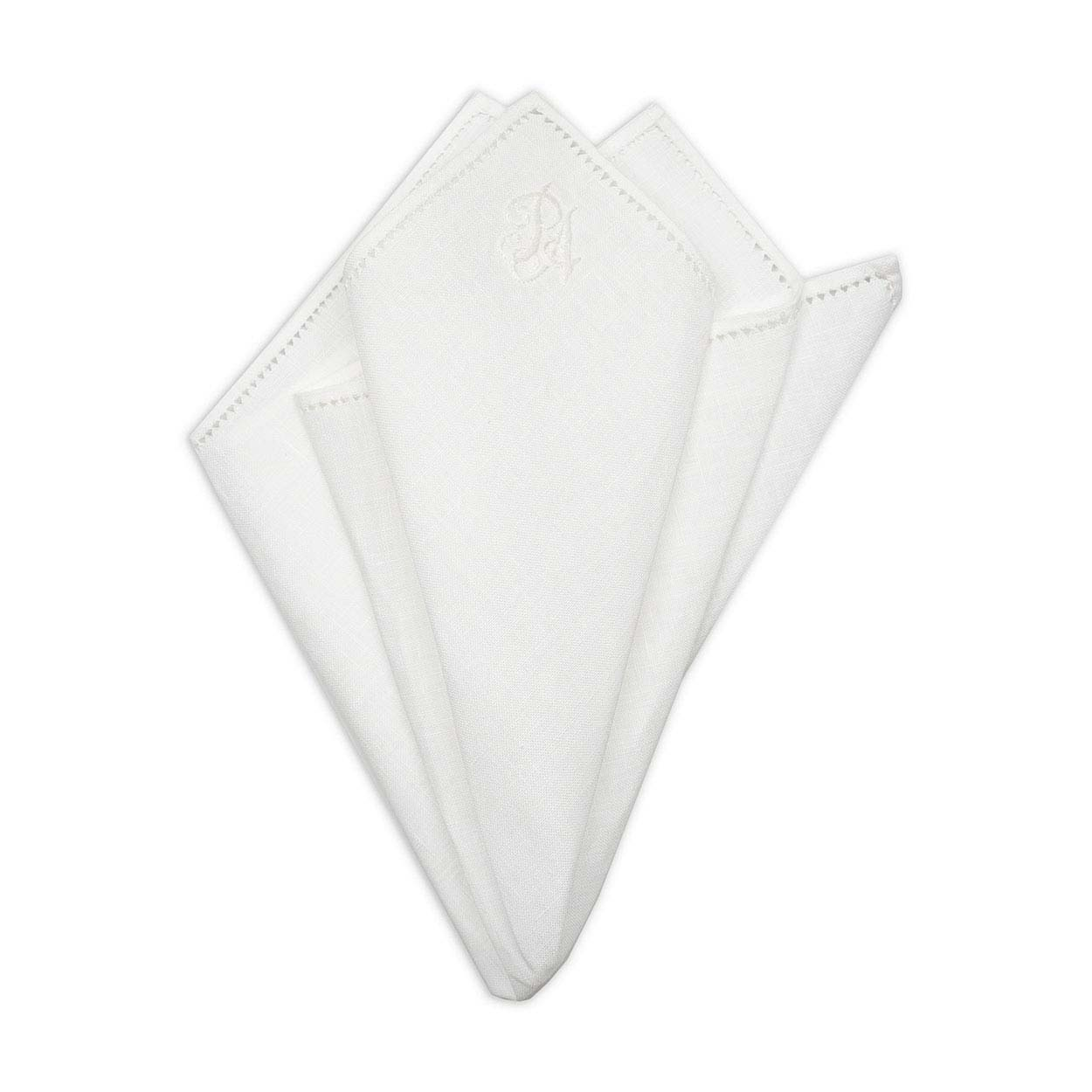 kydos styleforum holiday office party personalized white cotton pocket square