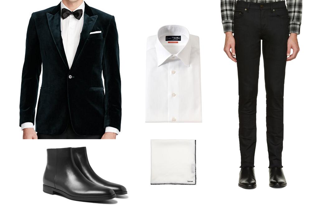 velvet blazer holiday styleforum outfit grid