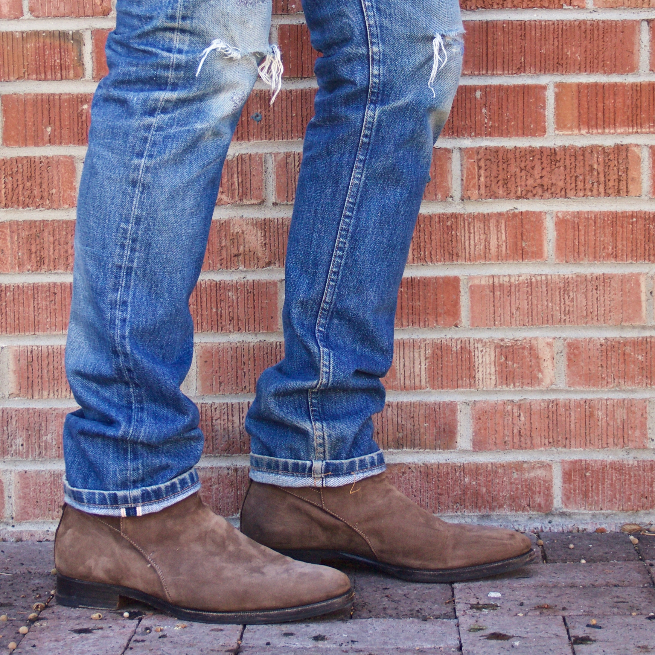 ways to wear boots with jeans