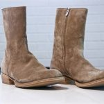 On Western Style Zip Boots