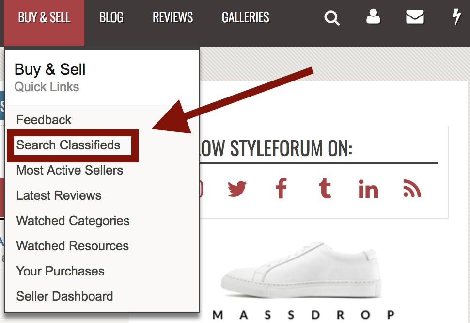 new Styleforum Classified System xenforo