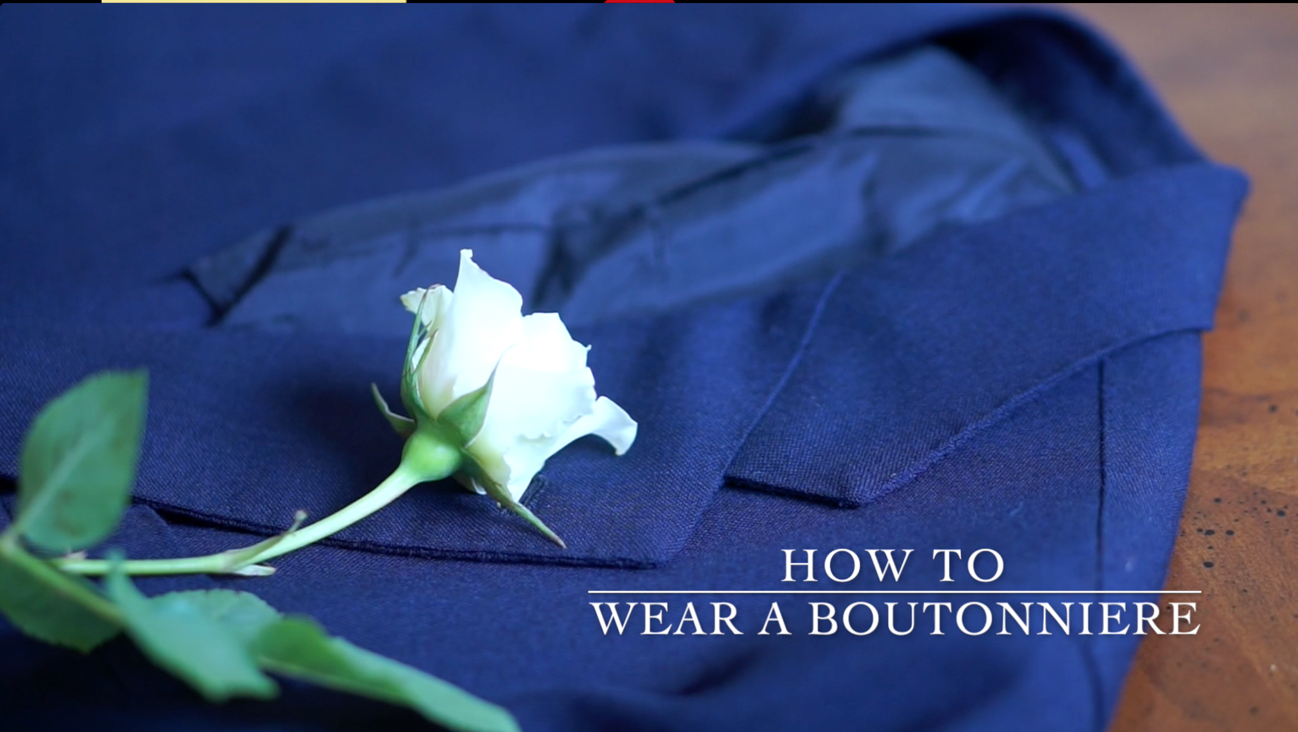 how to wear a boutonniere