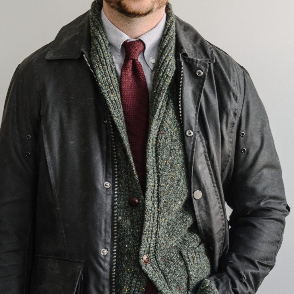 Casual meets Classic Incorporating Casual Outwear barbour waxed styleforum tie
