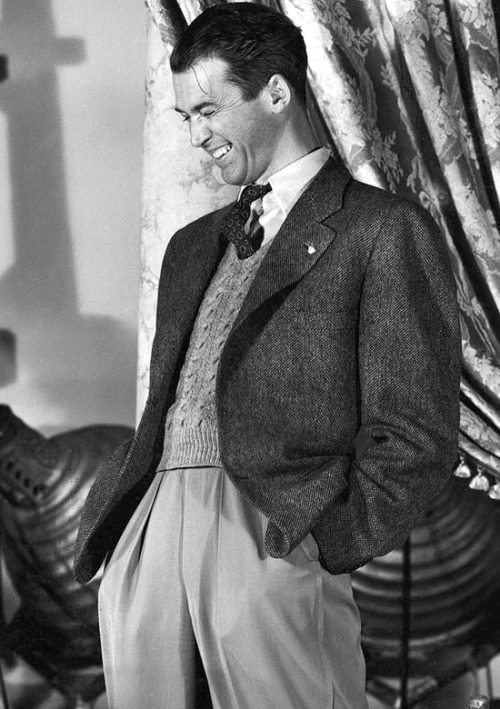 jimmy stewart style sweater vest inspiration menswear