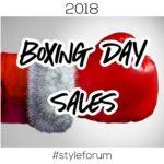 Boxing Day 2018 Menswear Sales